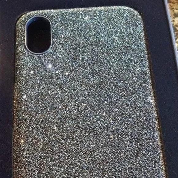 the latest 062a7 5faef Swarovski silver crystal iPhone X case NWT